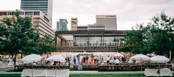 Salt Lake City Utah Wedding Venue Gallivan Center wedding