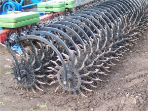 Rotary Hoe for in-crop weed management of small crop seedlings.