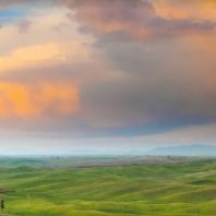 A rainy sunset over the Palouse.