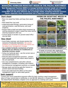 Herbicide Resistance BMP Poster.
