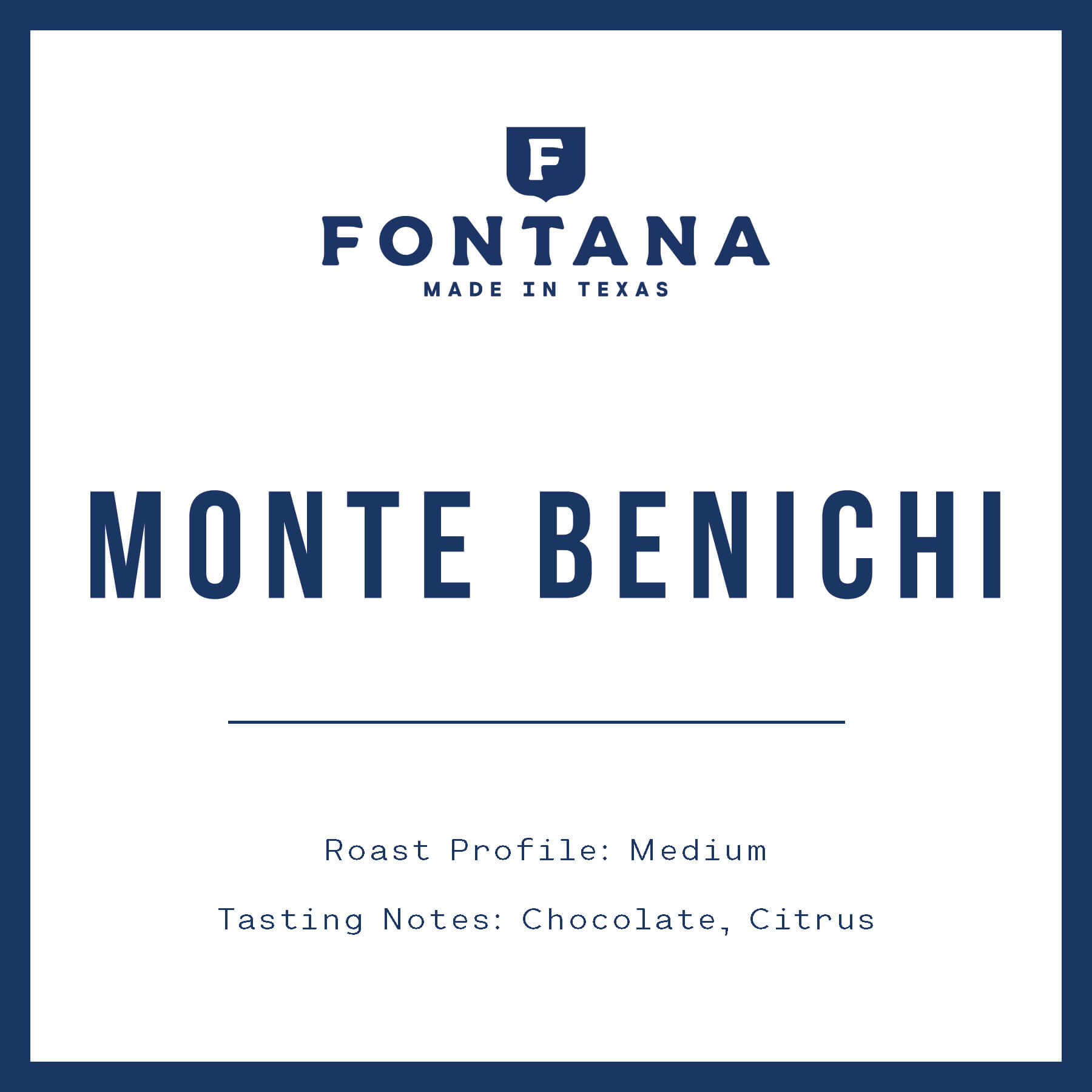 Monte Benichi from Fontana Coffee Roasters