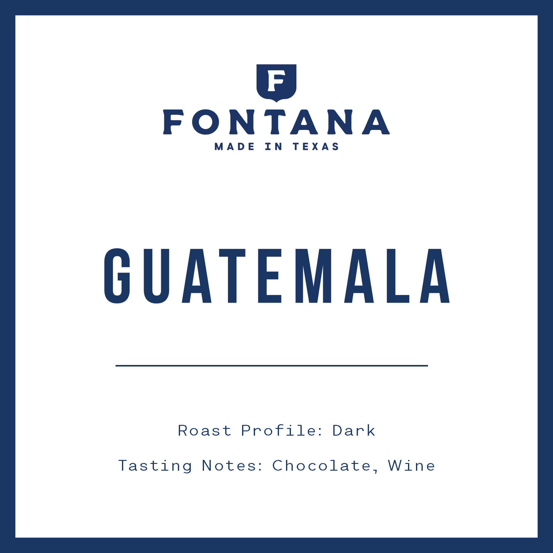 Guatemala Dark from Fontana Coffee Roasters