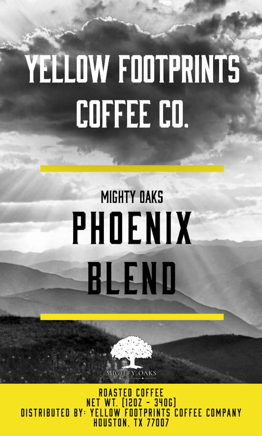 Mighty Oaks - Phoenix blend from Yellow Footprints Coffee Company