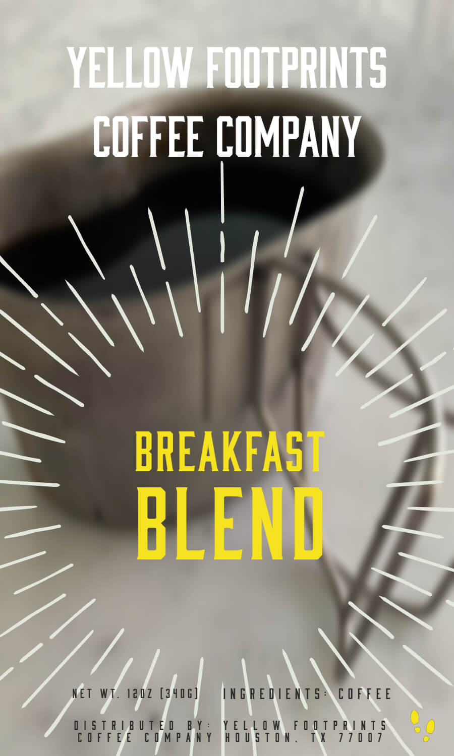 Breakfast Blend - Breakfast in Brazil from Yellow Footprints Coffee Company