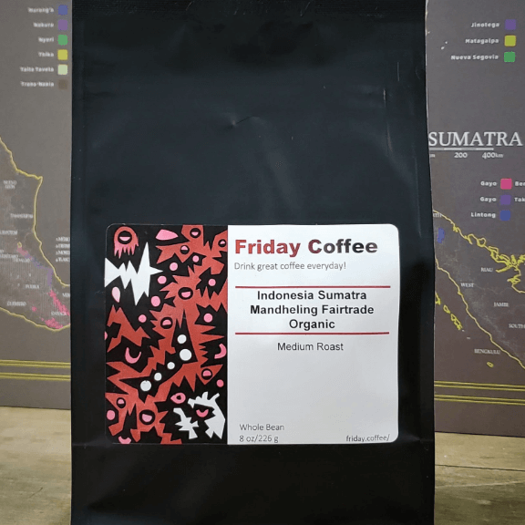 Indonesia Sumatra Mandheling Fairtrade Organic from Friday Coffee Roasters