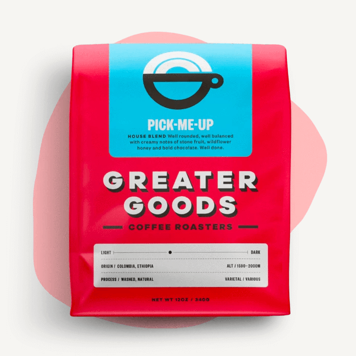 Pick-Me-Up from Greater Goods Coffee Co.