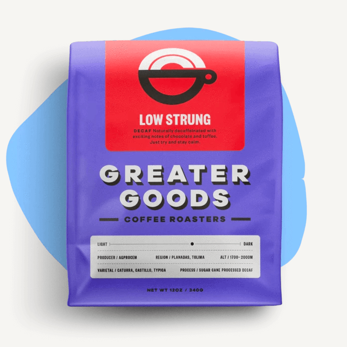 Low Strung from Greater Goods Coffee Co.