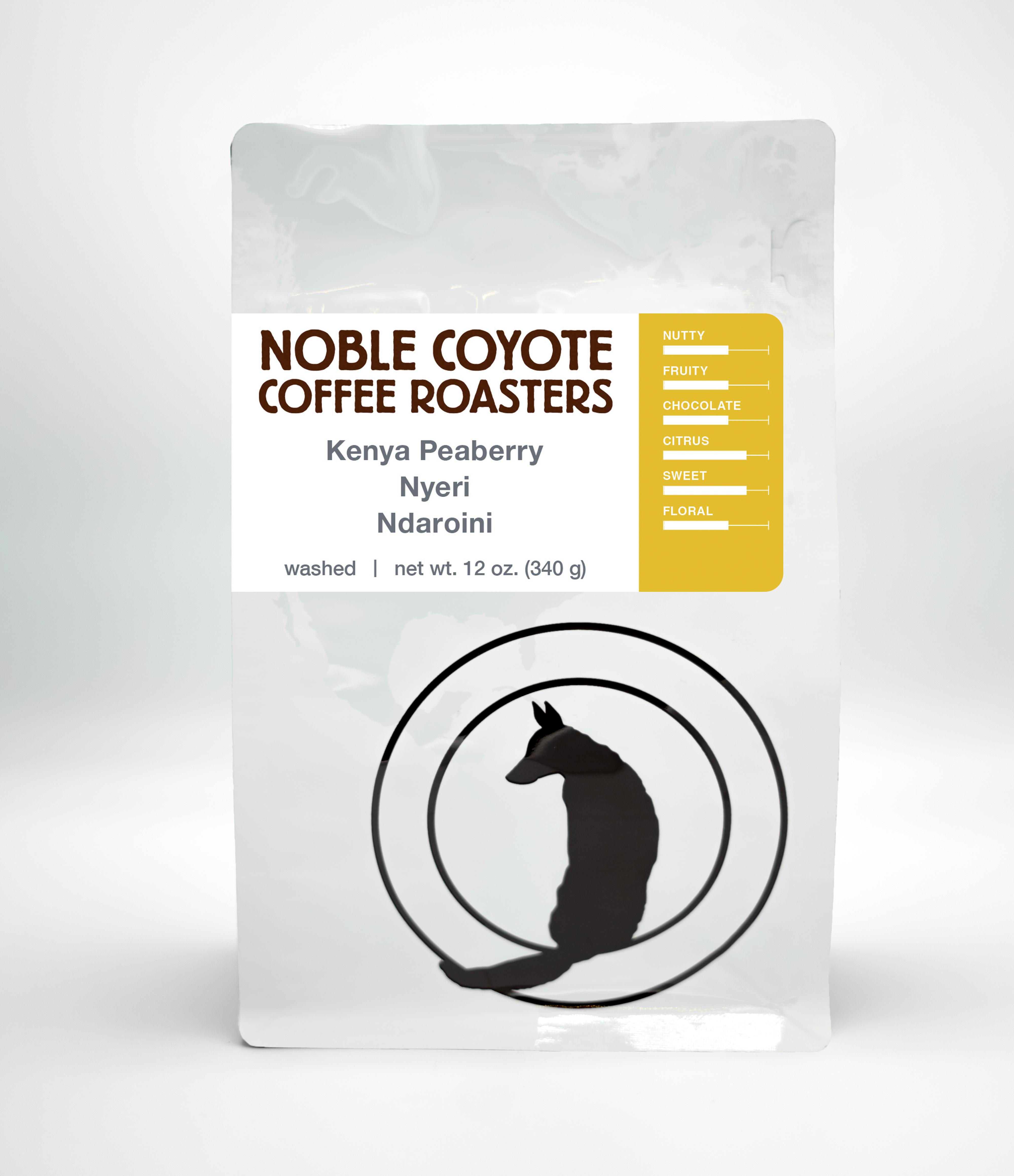 Kenya Ndaroini Peaberry from Noble Coyote Coffee Roasters