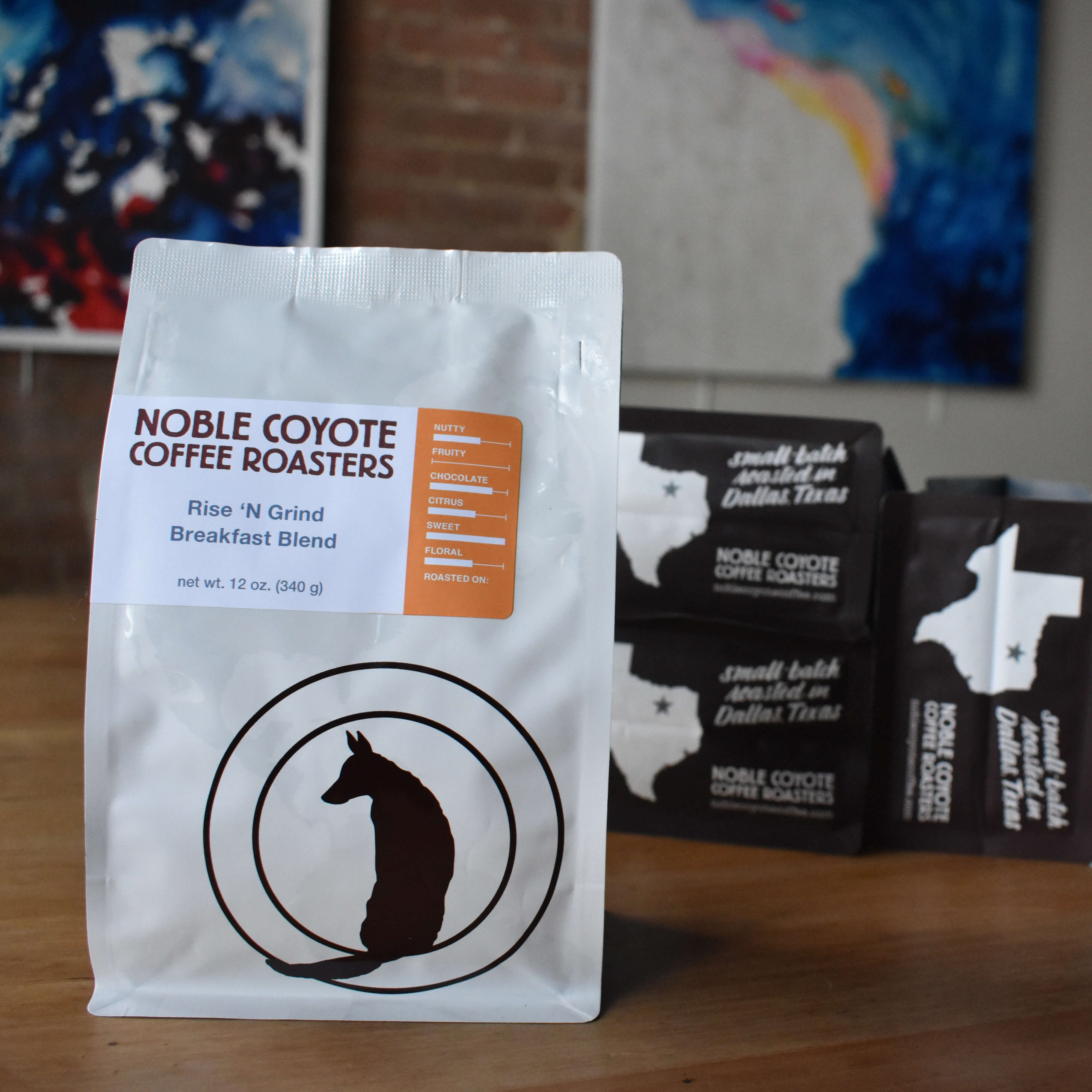 Rise 'n Grind Breakfast Blend from Noble Coyote Coffee Roasters