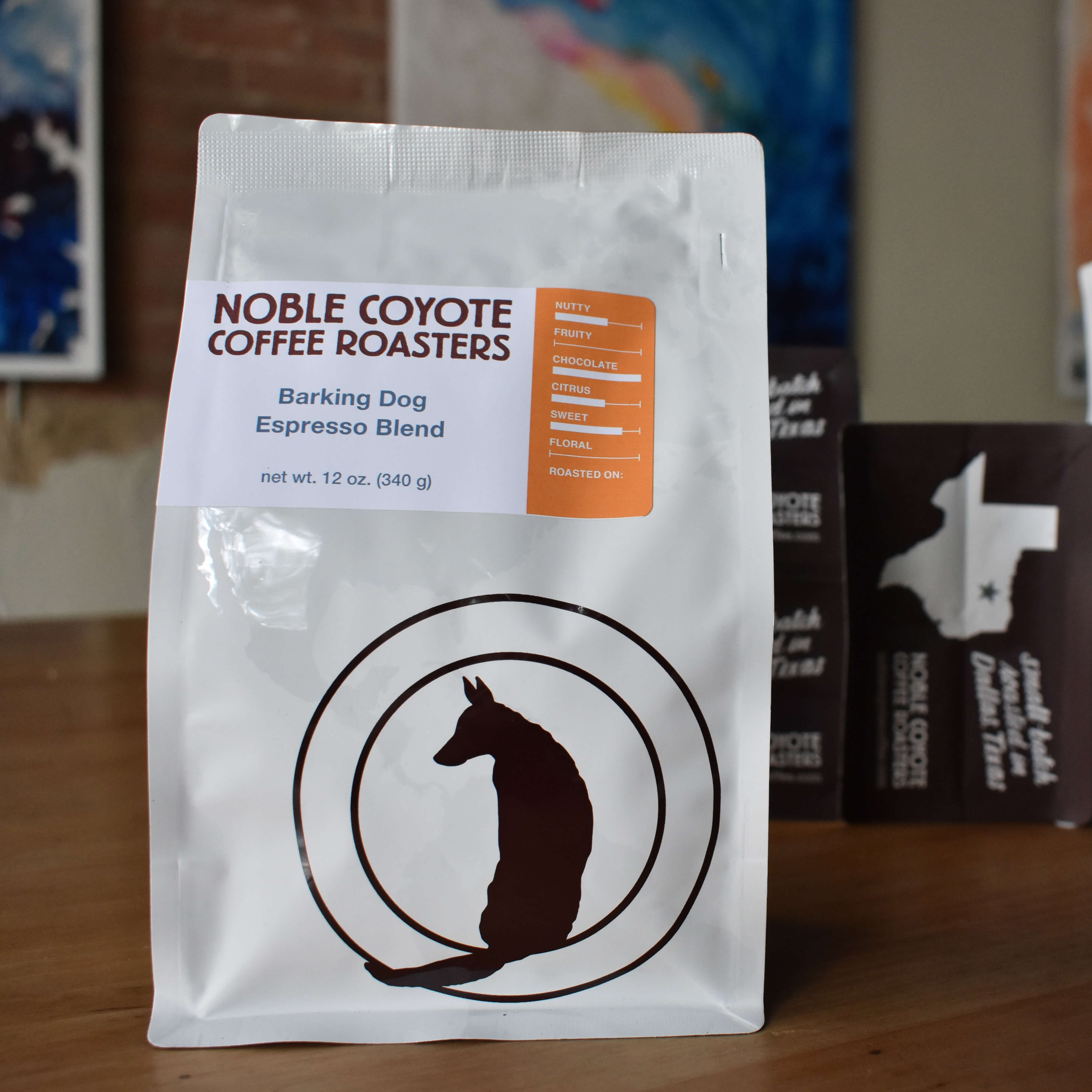 Barking Dog Espresso Blend from Noble Coyote Coffee Roasters