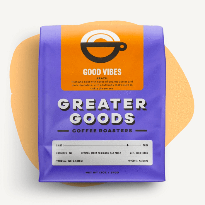 Good Vibes from Greater Goods Coffee Co.