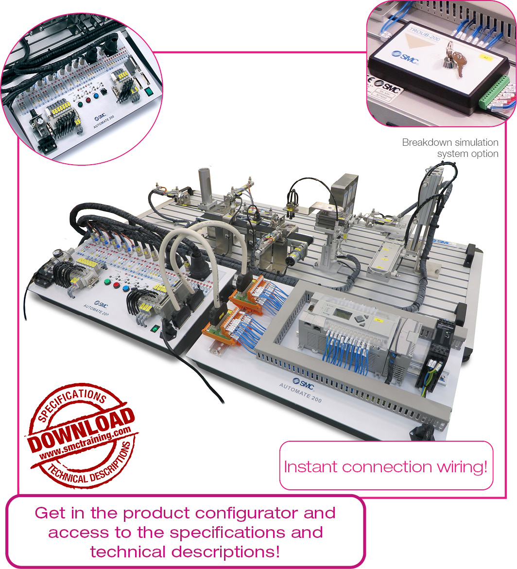 Automate 200a Instant Connection Wiring This Excellent Simulator Includes All Components And Electronic The Troubleshooting Simulation System Troub 200 Can Be Included Which Generates Up To 16 Different Breakdowns Diagnosed By User