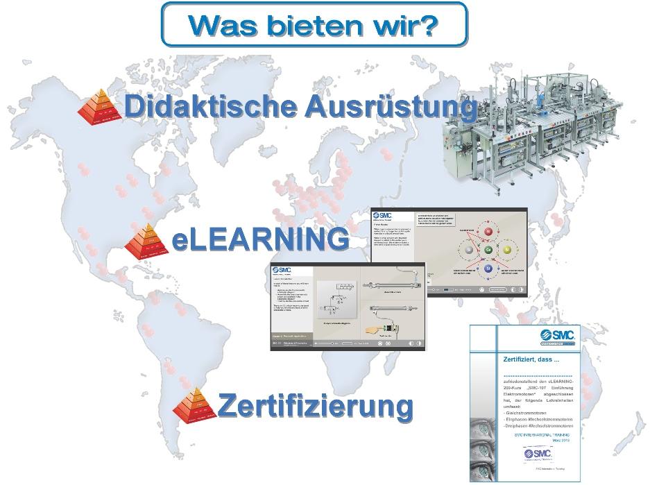 Was bieten wir? Didaktische Ausstattung, e-Learning und Zertifizierungen