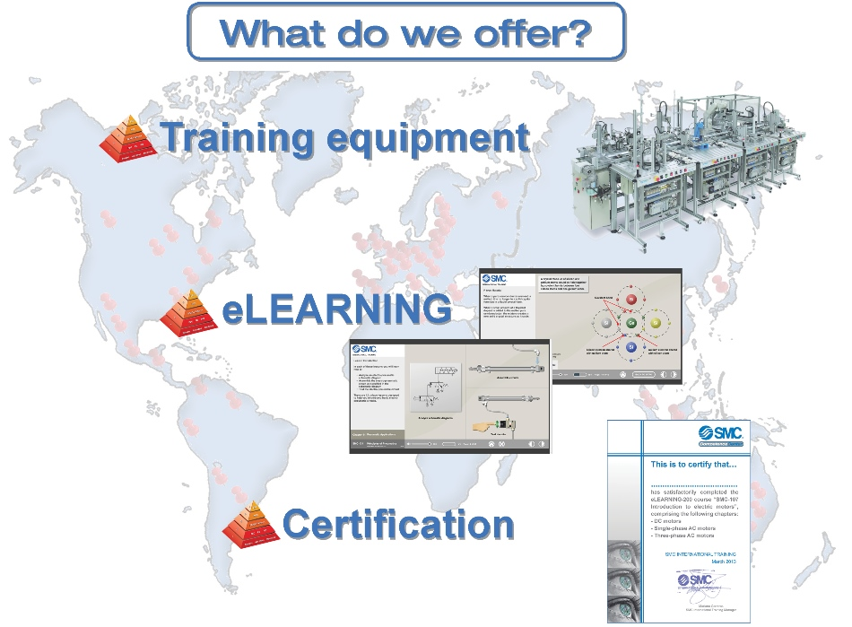 What do we offer? Training equipment, eLearning and certification
