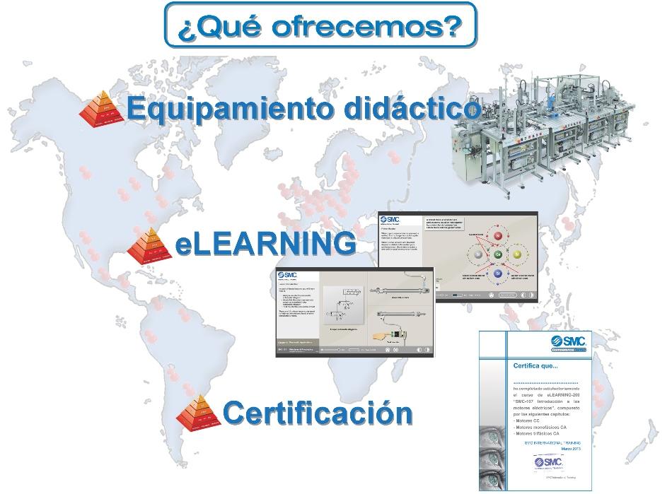 ¿Qué ofrecemos? Equipamiento didáctico, elearning y certificación