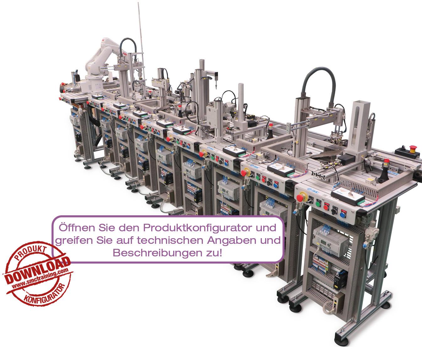 FAS-200 Flexible und kompakte didaktische Vorrichtung für Schulungen im Bereich Mechatronik und Automatisierung mit vielfältigen Technologien in ein und demselben System.
