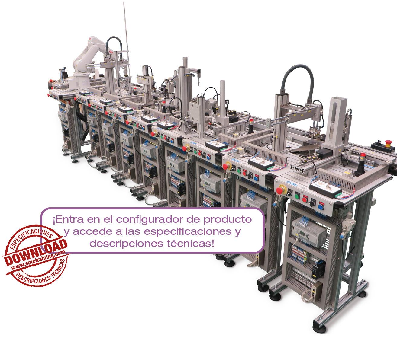 FAS-200 - Equipamiento didáctico flexible y compacto para la capacitación en mecatrónica y automatización, con múltiples tecnologías en el mismo sistema.