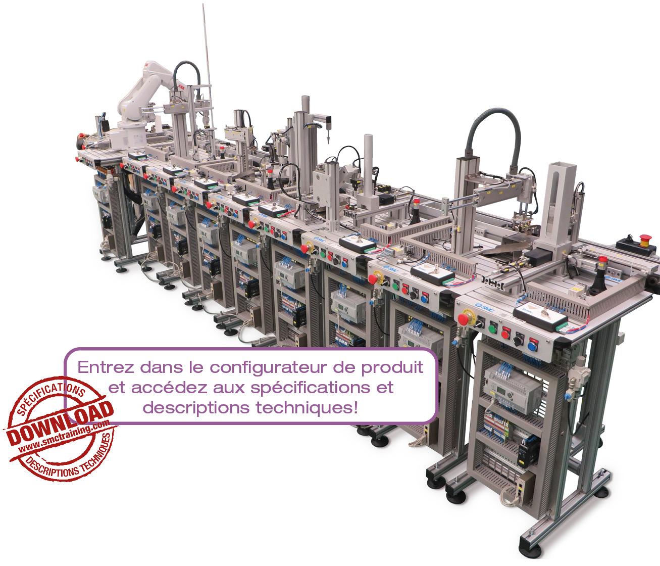 FAS-200 - Équipement didactique flexible et compact pour la formation en mécatronique et automatisation avec multiples technologies dans le même système