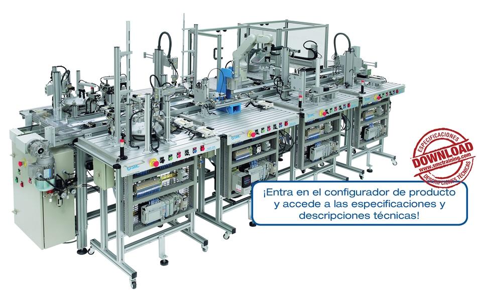 FMS-200 - Un equipo didactico totalmente modular y flexible, fabricado con componentes industriales, que permite una capacitación integral en automatización industrial