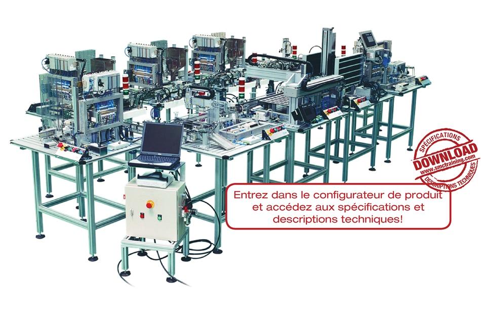 HAS-200 - Système didactique qui reproduit un processus de production fortement automatisé qui permet de développer les compétences professionnelles exigées par les secteurs les plus variés. Grimpez jusqu'au sommet de la pyramide de l'automatisation.
