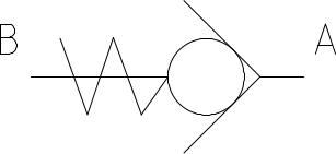 Valvula check pilotada simbolo