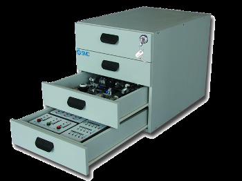 SAI2074 - Blocs de tiroirs de rangement des composants pour table roulante.
