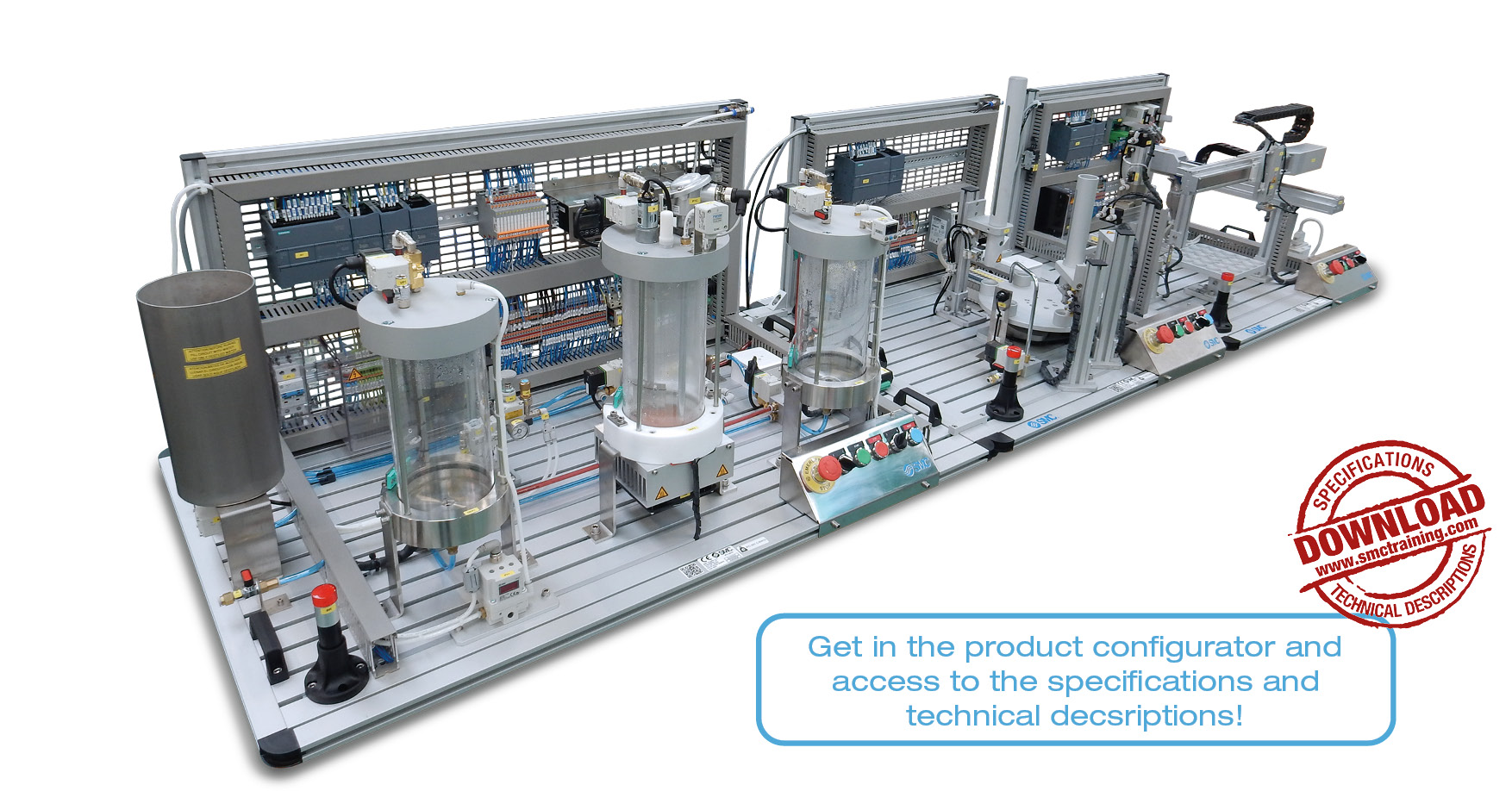 IPC-200 - A complete modular and flexible training system in the field of Industrial Process Control