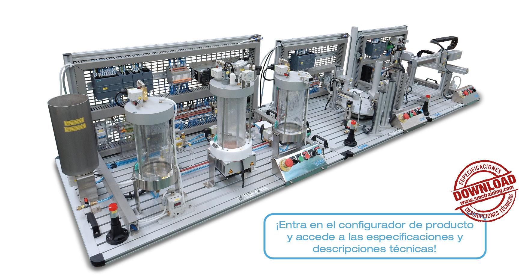 IPC-200 - Un completo sistema de entrenamiento, modular y flexible, en el campo del Control de Procesos Industriales.