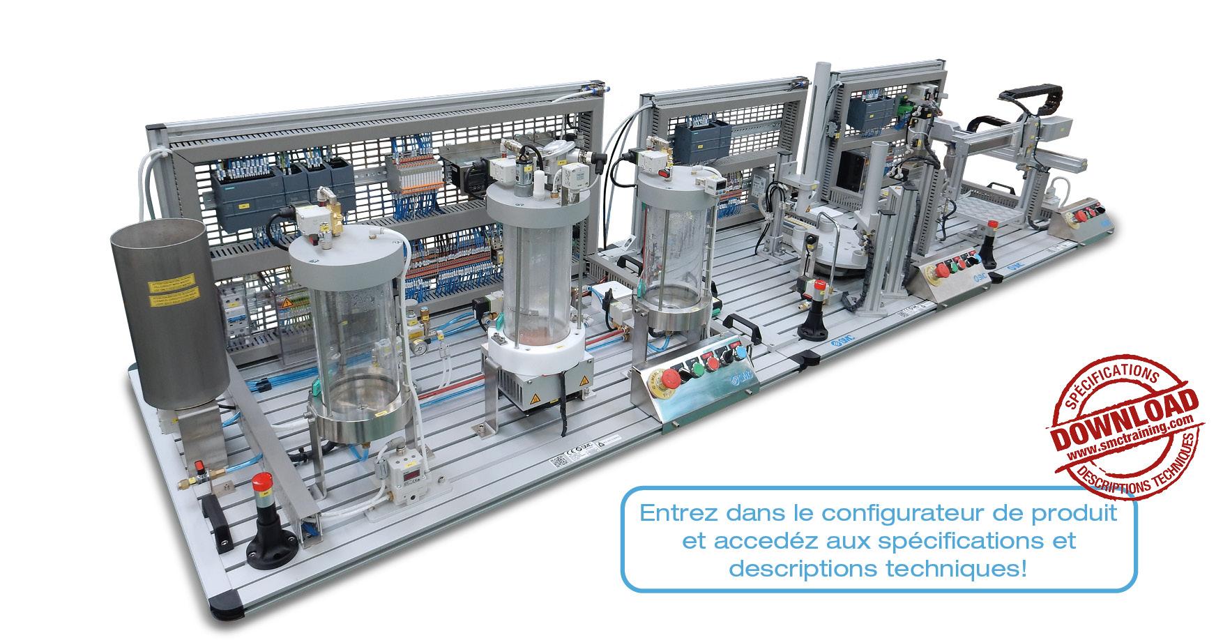 IPC-200 - Un système complet d'entraînement, modulaire et flexible, dans le domaine du Contrôle des Procédés Industriels