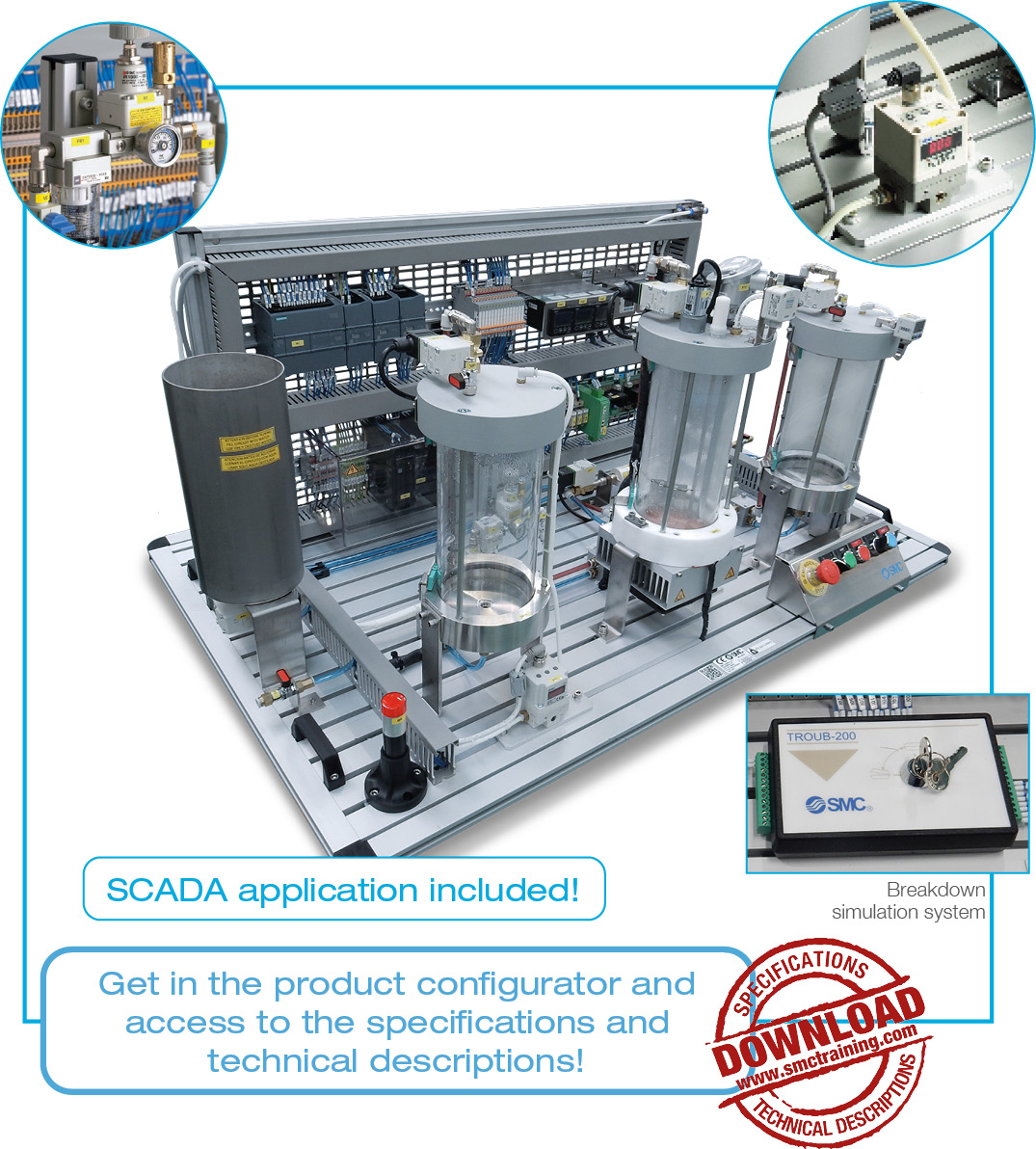 IPC-201C - Production station for the regulation and control of analogue variables