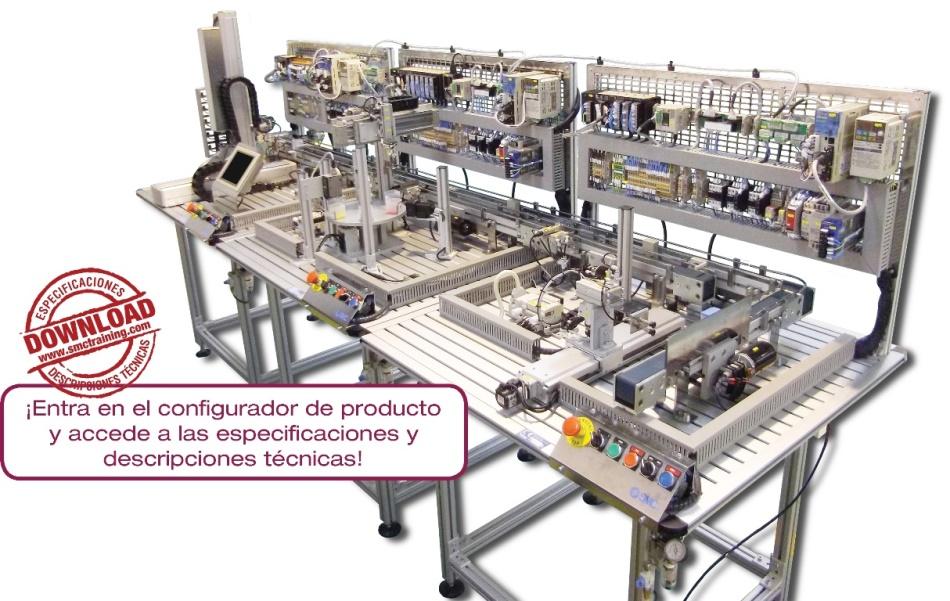 ITS-200 - Sistema didáctico que ofrece una capacitación profesional en el ámbito de la automatización industrial, y más concretamente en el área de servoaccionamiento y sensórica de última generación.