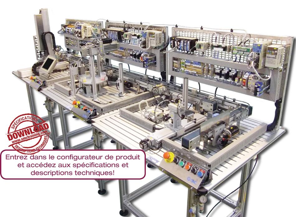ITS-200 - Système didactique qui offre une formation professionnelle dans le domaine de l'automatisation industrielle, et plus concrètement dans les servo commandes et sensorique de dernière génération