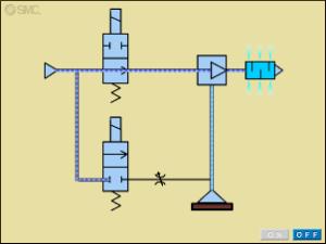 pneumatic circuit for vacuum