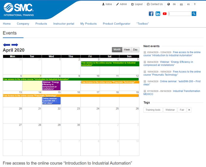 Calendario de seminarios y recursos digitales
