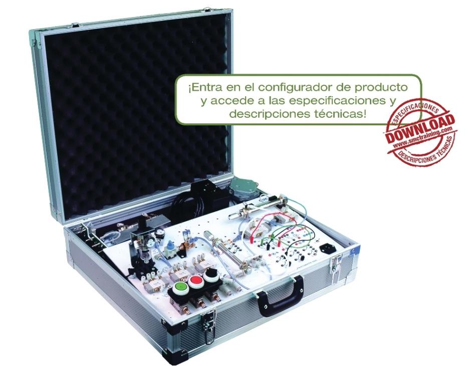 PNEUMATE-200 - Entrenador didáctico compacto para adentrar al usuario en las tecnologías neumática y electroneumática