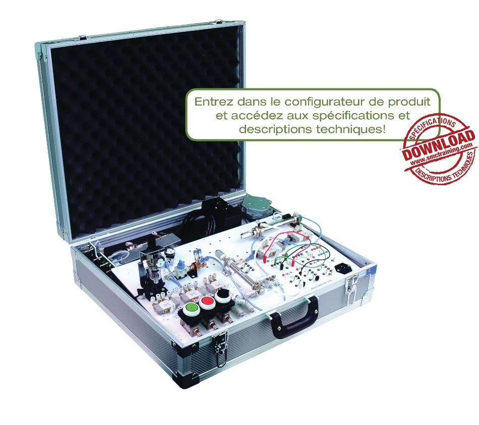 PNEUMATE-200 - L'équipement didactique compact pour initier l'utilisateur à la pneumatique et à l'électropneumatique
