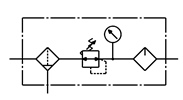 Symbology - Air cleaning unit with lubricator