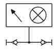 Symbolique - Indicateur de pression (rouge)