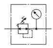 Symbology - Pressure regulator with pressure gauge