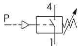 Symbolique - Pressostat contact électrique