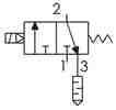 Symbolique - Electrodistributeur 3/2 monostable NF