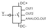 Symbolique - Vacuostat numérique programmable. Sorties numérique/analogique