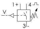 Symbolique - Vacuostat sortie à transistor