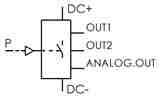 Symbolique - Pressostat numérique programmable. Sorties numérique/analogique