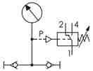 Symbolique - Manomètre avec contact électrique