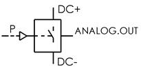 Symbolique - Capteur analogique de pression