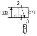 Symbolique - Électrodistributeur 3/2 bistable