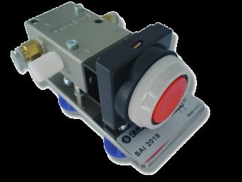 SAI2018 - Distributeur 3/2 NF-NO actionnée par bouton poussoir