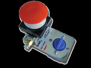 SAI2019 - Distributeur 3/2 NF actionnée par bouton d'arrêt d'urgence