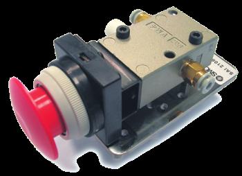SAI2108 - Distributeur 3/2 NF-NO actionnée par bouton d'arrêt d'urgence